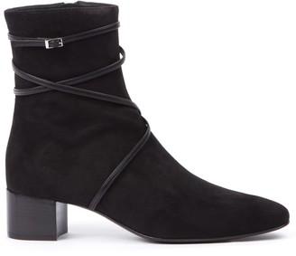 Giuseppe Zanotti Prue Black Suede Ankle Boots