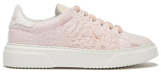 By Walid 19th Century Panelled Low Top Trainers - Womens - Light Pink