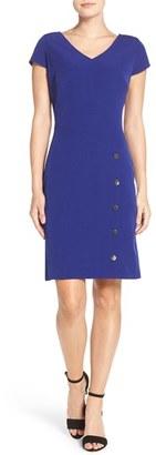 Women's Julia Jordan Snap Button Sheath Dress $148 thestylecure.com