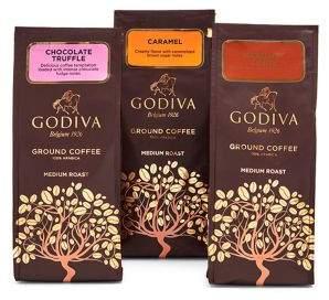 Godiva Chocolatier Three-Flavour Ground Coffee Variety Set