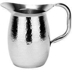Old Dutch 2-Quart Double-Walled Hammered Stainless Steel Water Pitcher