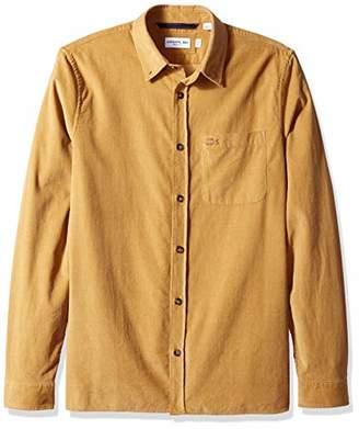 Lacoste Men's Long Sleeve Slim FIT Solid Corduroy Button Down