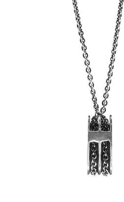Anchor And Crew Rothesay Silver Pulley Pendant Necklace