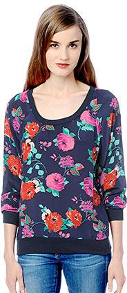Ella Moss Rose Garden Long Sleeve Top