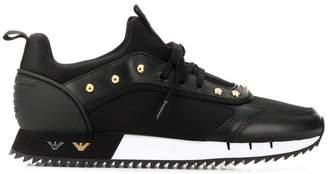 Emporio Armani studded sneakers