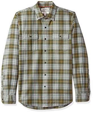 Goodthreads Men's Slim-Fit Long-Sleeve Plaid Herringbone Shirt