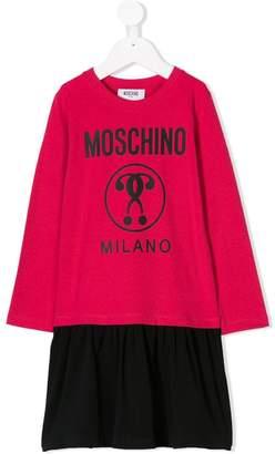 Moschino Kids logo print casual dress