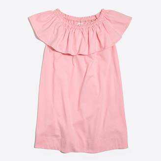 J.Crew Factory Girls' off-the-shoulder ruffle dress