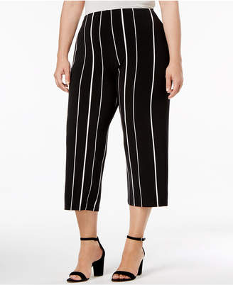 Alfani Plus Size Striped Culottes, Created for Macy's