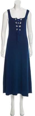 Mara Hoffman Lace-Up Knit Dress