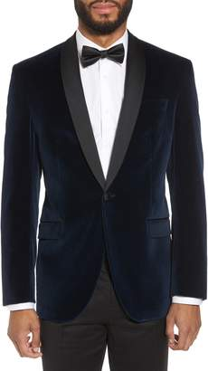 Ted Baker Josh Trim Fit Stretch Velvet Dinner Jacket