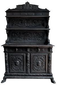 Vintage Goth Bar Cabinet