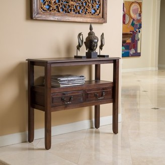 Noble House Gracie Acacia Wood Accent Table Color Brown Mahogany