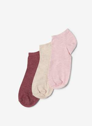 Dorothy Perkins Womens Multi Coloured 3 Pack Marl Trainer Socks