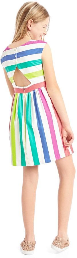 Bold stripe cap dress 4