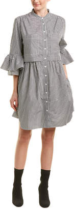 French Connection Frill Sleeve Shift Dress