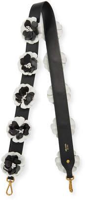 Prada Flower Leather Strap for Handbag