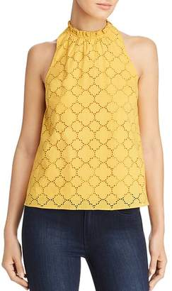 1 STATE 1.STATE High-Neck Crochet Top