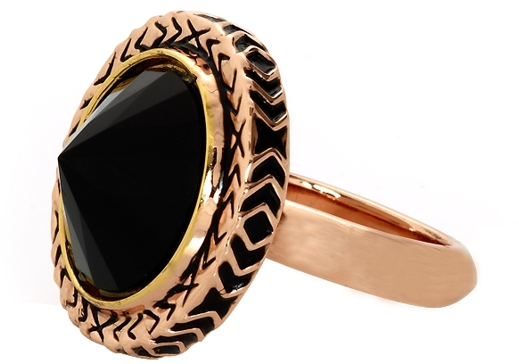 House Of Harlow Scry Stone Ring in Rose Gold