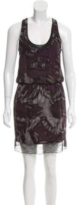 Robert Rodriguez Sleeveless Silk Knee-Length Dress