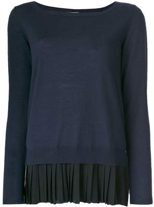 P.A.R.O.S.H. pleated detail knitted top