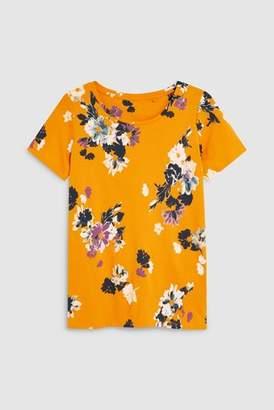 Next Womens Green Stripe Basic Printed T-Shirt
