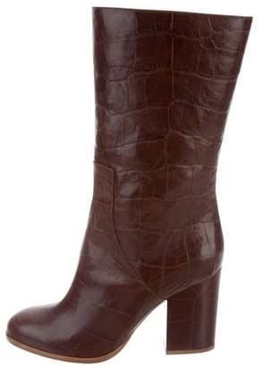 Alexa Wagner Embossed Heidi Boots w/ Tags