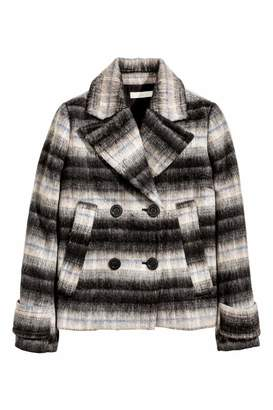 H&M Wool-blend Jacket - Dark gray/striped - Women