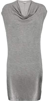 Splendid Draped Slub Stretch-Modal Mini Dress