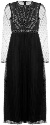 RED Valentino long-sleeved tulle dress
