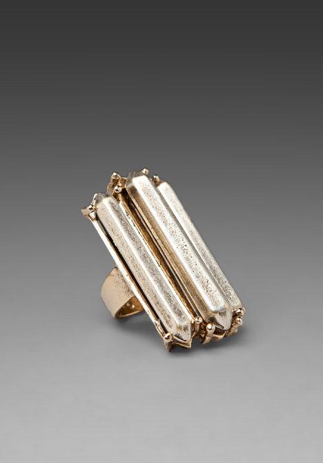 Low Luv Erin Wasson Triple Metal Crystal Ring