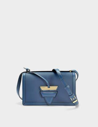 Loewe Barcelona Bag in Indigo Soft Grained Calfskin