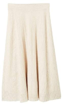MANGO Midi textured skirt