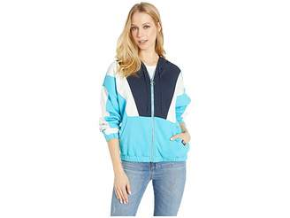 Juicy Couture Nylon and Terry Mixed Track Jacket Women's Clothing