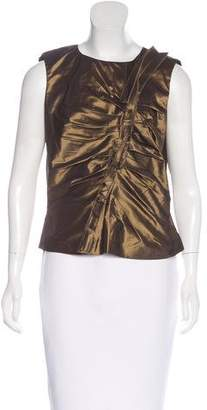 Oscar de la Renta Silk Sleeveless Top