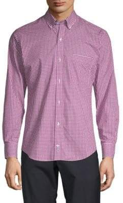 Tailorbyrd Gingham Long-Sleeve Button-Down Shirt