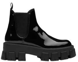 Prada Monolight Patent Leather Booties
