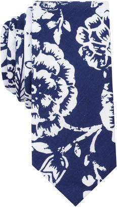 Bar Iii Men's Port Floral Skinny Tie, Created for Macy's $55 thestylecure.com