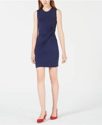 2a23da55260 Maison Jules Dot-Print Knot-Waist Dress