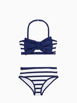 Kate Spade Girls stripe bow two-piece