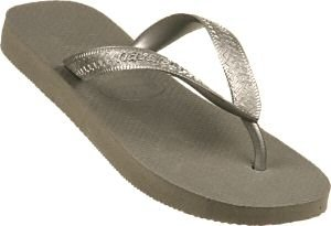 Havaianas Sandals - Top Silver Rubber Thong