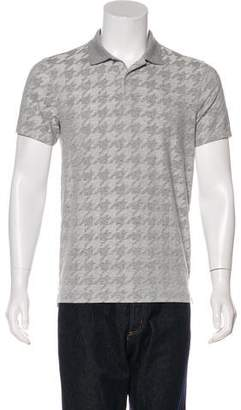 J. Lindeberg Houndstooth Slim Fit Polo Shirt