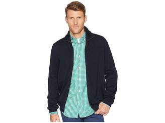Perry Ellis Jersey Knit Zip Front Cardigan Sweater