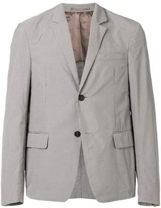 Prada check patterned blazer