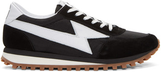 Marc Jacobs Black Runner Jogger Sneakers $295 thestylecure.com