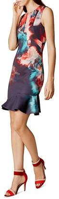 KAREN MILLEN Floral-Print Dress $299 thestylecure.com