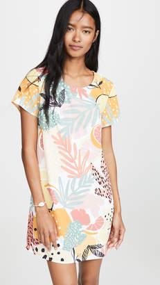 MinkPink Citrus Print Tee Dress