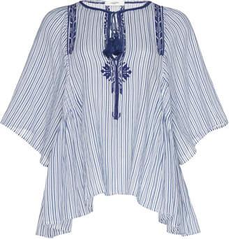Etoile Isabel Marant Joya Embroidered Cotton-Voile Shirt