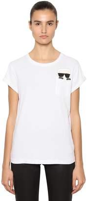 Karl Lagerfeld Ikonik Pocket Cotton Jersey T-Shirt