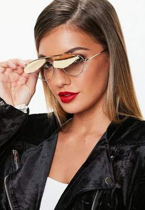 Missguided Quay Australia x Elle Ferguson Elle Rose Gold Sunglasses
